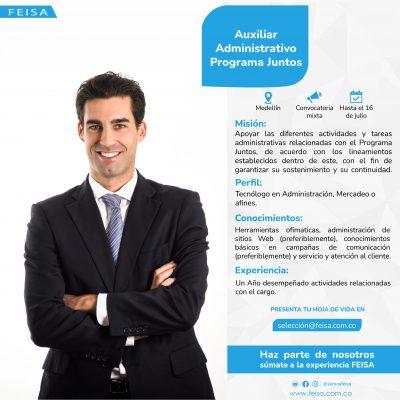 Auxiliar Administrativo Programa Juntos